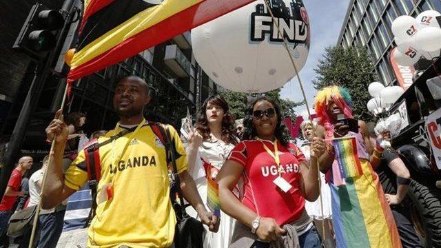 Ugandan participants of London gay pride parade