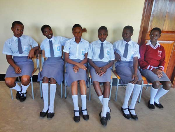 Students at the newly opened Yabongo Girls Boarding School South Sudan