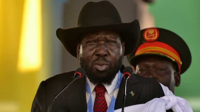 South Sudan President Salva Kiir addresses the crowds at the John Garang's Mausoleum in Juba, South Sudan October 31, 2018. REUTERS/Jok Solomun
