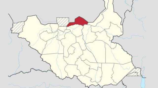 Ruweng State in South Sudan Map